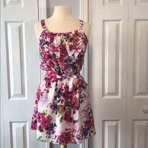 Express floral print sleeveless dress